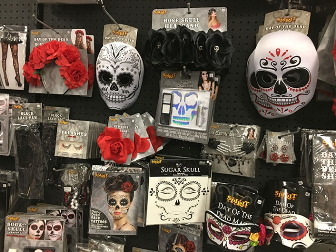 Day of the Dead costumes have also come more into popularity in recent years. The store has added more accessories for more DIY type costumes.